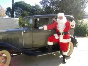 Santa arrives in style at the Leona Valley Sertoma 2011 Senior Christmas Dinner