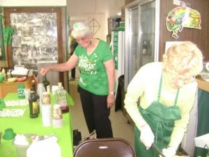 Hard at work at the 2018 St. Patrick's Day Dinner.
