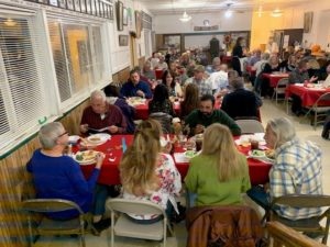 It's a full house for the Murder Mystery dinner theater.